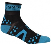 Носки COMPRESSPORT V2 RUN HI черно-синие