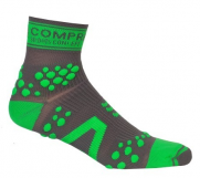Носки COMPRESSPORT TRAIL HI V2 серо-зеленые