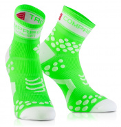 Носки COMPRESSPORT FLUO V2 RUN зеленые