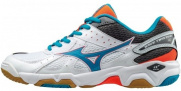 Кроссовки MIZUNO WAVE TWISTER 4 (W), белый/голубой/коралловый
